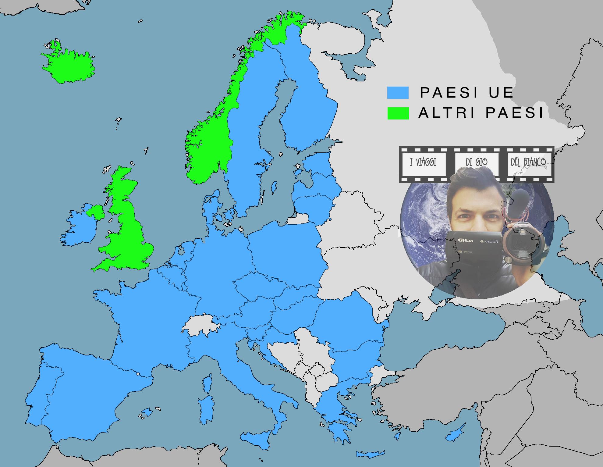 Cartina Unione Europea.Mappa Roaming Ue Gio Del Bianco